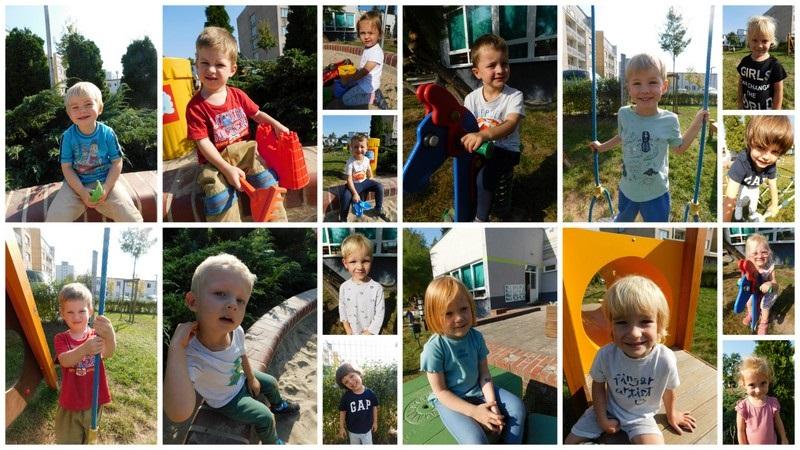 Dzieci z grupy wróbelki na placu zabaw